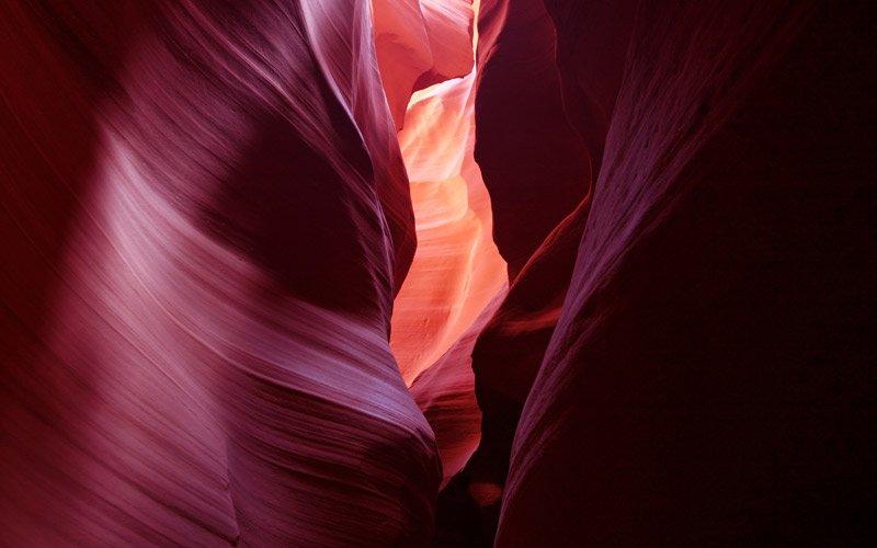 sei pronto a passare tra pareti di roccia che sembrano di velluto?