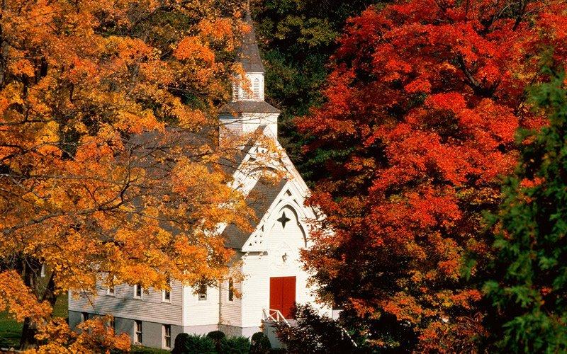 un autunno rosso nel New England