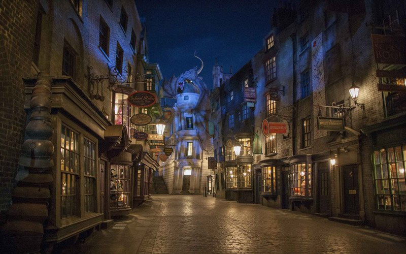 the magical world of Harry Potter inside the Universal Studios in Orlando