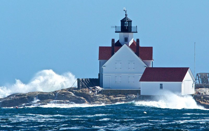 sleep in a New England lighthouse and have fresh lobster and fries for lunch!