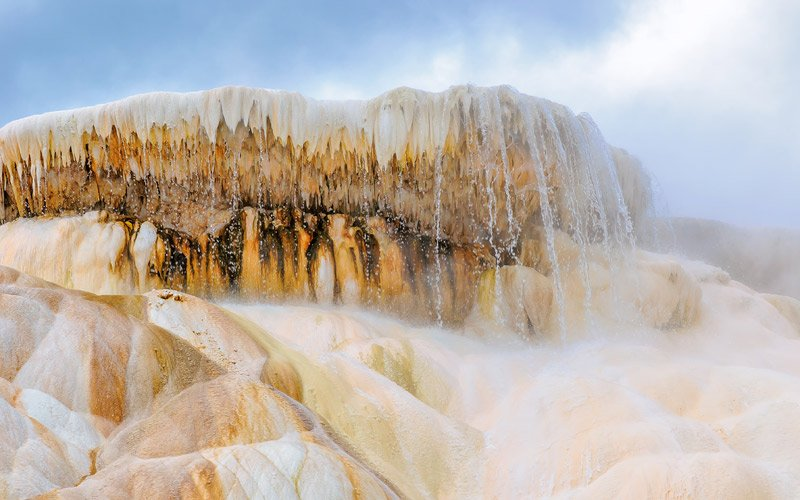 Mammoth Hot Springs, a wonder within a wonder, in Yellowstone