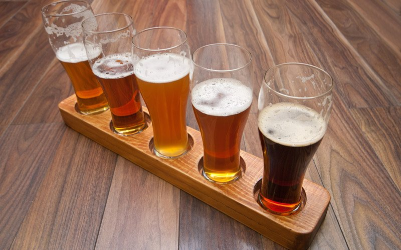 try the IPA beers directly from one of the many microbreweries in California and the Pacific Northwest