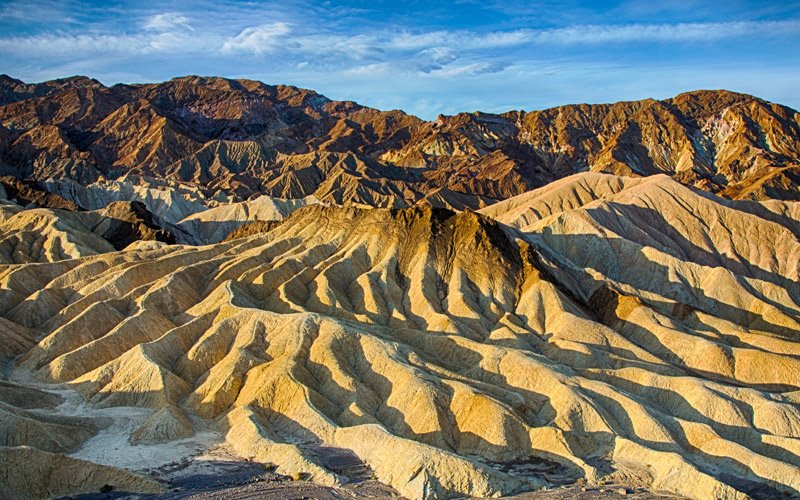 Zabriskie Point, where the rock feels like fabric and where Antonioni filmed parts of his famous movie
