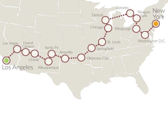 Cartina America New York.Self Drive Tour In The United States Xplore America