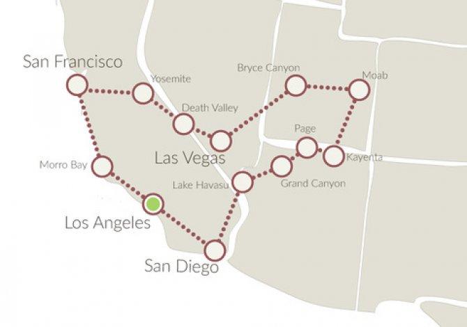Parchi Usa Cartina.Tour Parchi Nazionali Usa In Auto Parchi Nazionali In Elicottero