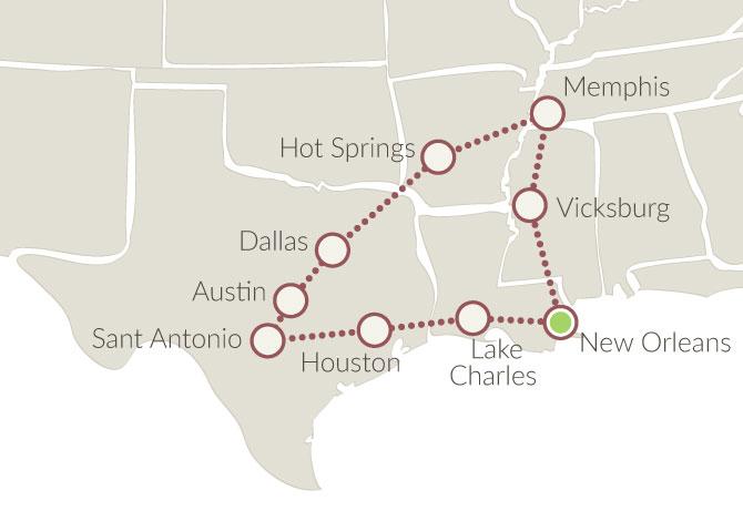 Texas e profondo sud xplore america for La strada motors houston tx